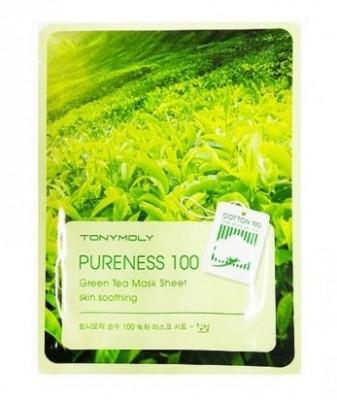 Тканевая маска с зеленым чаем TONY MOLY Pureness 100 green tea mask sheet 21 мл: фото