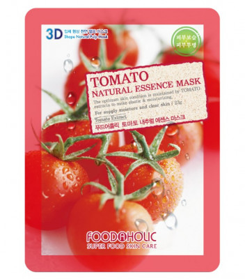 Тканевая 3D маска с томатом FoodaHolic Tomato Natural Essence Mask 23 мл: фото