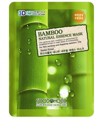 Тканевая 3D маска с бамбуком FoodaHolic Bamboo Natural Essence Mask 23мл: фото
