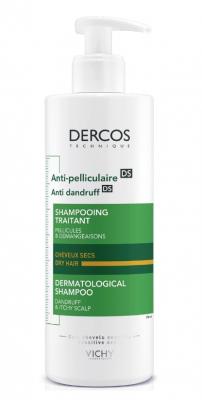 Шампунь-уход против перхоти для сухой кожи головы VICHY Dercos Anti-Dandruff Dry Hair 390 мл: фото