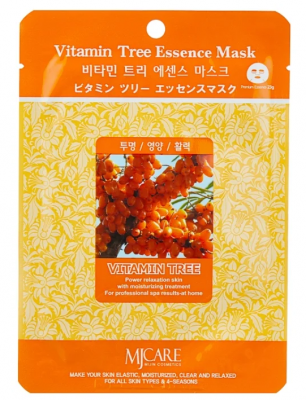Маска тканевая облепиха Mijin Vitamin Tree Essence Mask 23г: фото