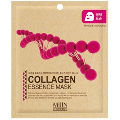 Маска для лица тканевая коллаген Mijin COLLAGEN ESSENCE MASK 25гр: фото