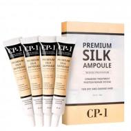 Сыворотка несмываемая для волос с протеинами шелка ESTHETIC HOUSE CP-1 Premium Silk Ampoule 4*20мл: фото