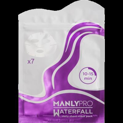 Маски освежающие для увлажнения кожи лица Manly PRO WM7 Водопад \ Waterfall 7 шт: фото