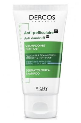 Шампунь-уход интенсивный против перхоти для нормальных и жирных волос Vichy Dercos Anti-Dandruff Normal to Oily Hair 50 мл: фото