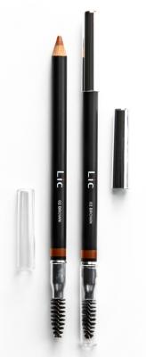 Карандаш пудровый для бровей Lic Eyebrow pencil 02 Brown: фото