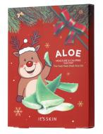 Новогодний набор тканевых масок с алоэ It's Skin The Fresh Mask Sheet Aloe GLOBAL NEW YEAR 18г*5 шт: фото